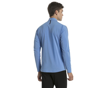 Thumbnail 3 of Uruguay Men's 1/4 Zip Training Top, Silver Lake Blue, medium