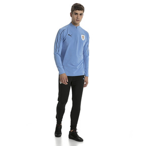 Thumbnail 5 of Uruguay Men's 1/4 Zip Training Top, Silver Lake Blue, medium