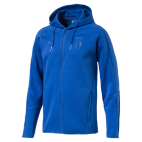 Thumbnail 1 of FIGC Men's Zip-Thru Hoodie, Team Power Blue, medium