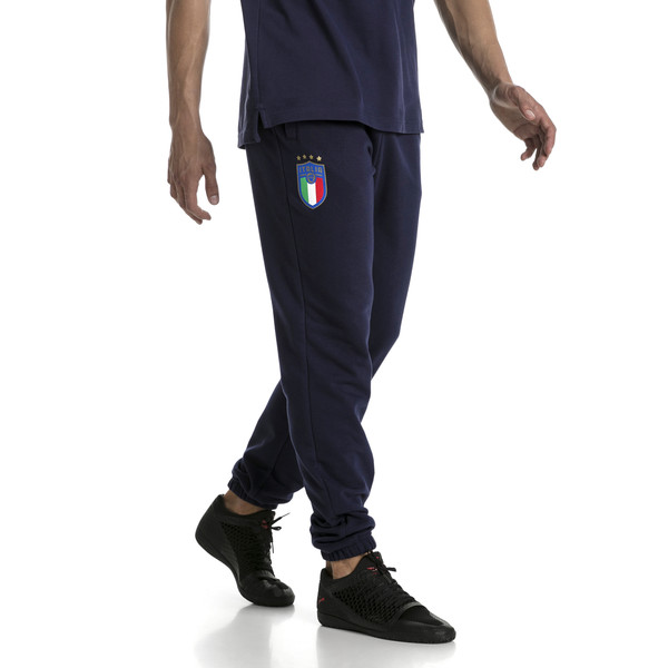 FIGC Men's Italia Sweat Pants, Peacoat, large