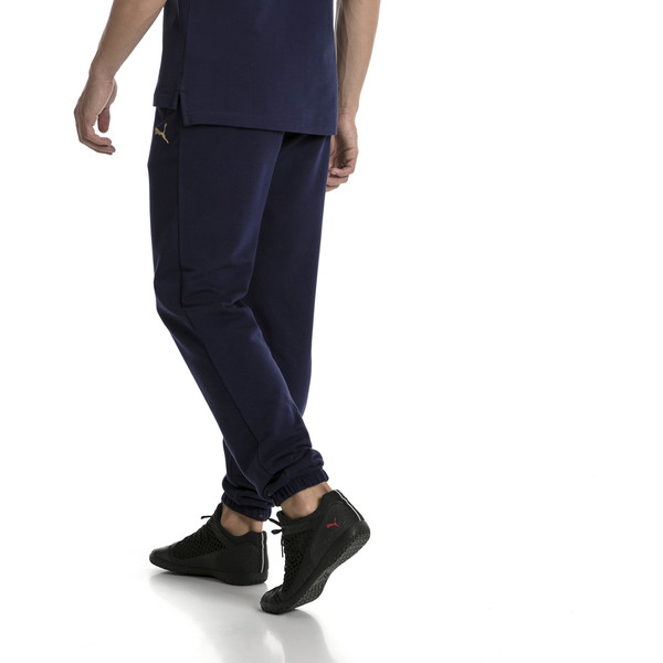 Pantalones deportivos de hombre de Italia FIGC, Peacoat, grande