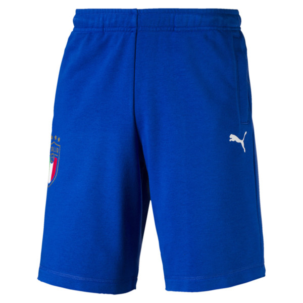 FIGC Men's Italia Fanwear Bermudas, Team Power Blue, large