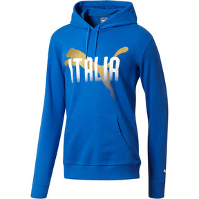 Thumbnail 1 of FIGC Italia Fanwear Hoodie, Team Power Blue, medium