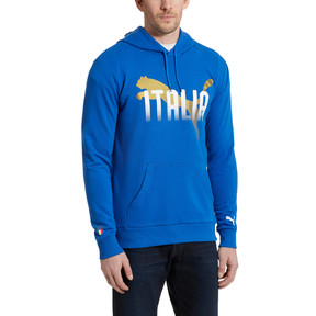 Thumbnail 2 of FIGC Italia Fanwear Hoodie, Team Power Blue, medium