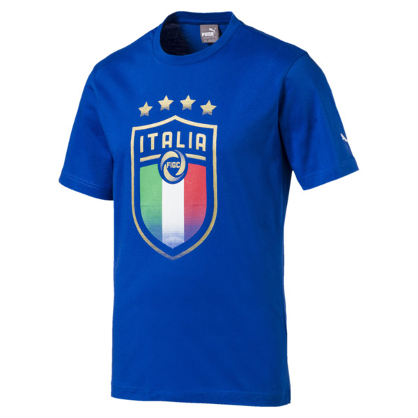 Italia Badge Tee, Team Power Blue, large