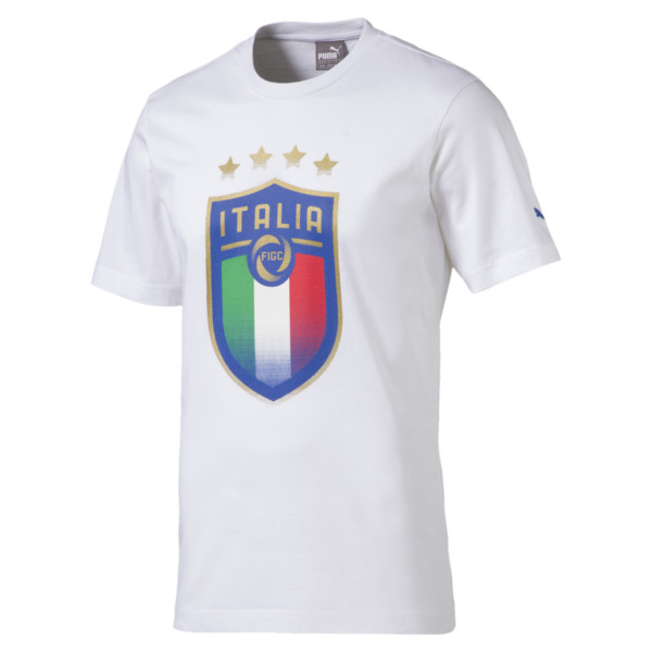 Italia Badge Tee, Puma White, large