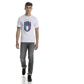 Thumbnail 5 of Italia Badge Tee, Puma White, medium