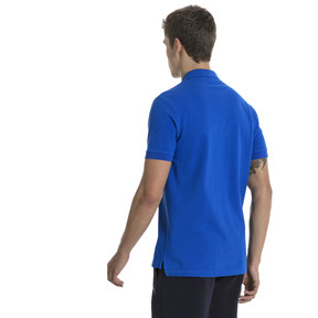 Thumbnail 3 of FIGC Men's Italia Fanwear Polo, Team Power Blue, medium
