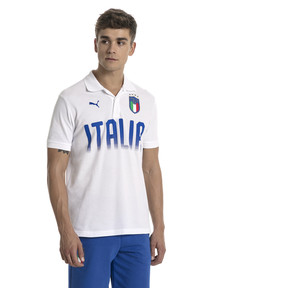 Thumbnail 2 of FIGC Italia Fanwear Polo, Puma White, medium