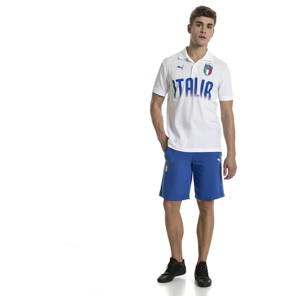 FIGC Men's Italia Fanwear Polo, Puma White, large