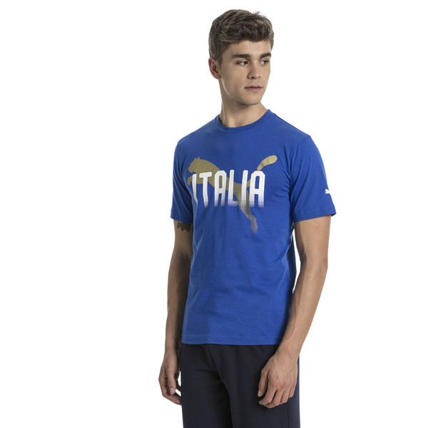 FIGC Italia Fanwear Grap Tee, Team Power Blue, large