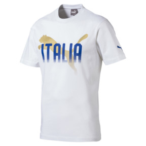 Thumbnail 1 of FIGC Men's Italia Fanwear Graphic Tee, Puma White, medium