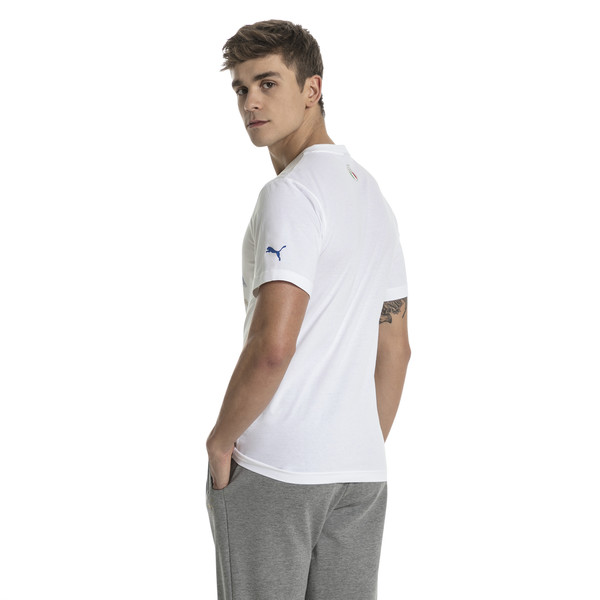 FIGC Men's Italia Fanwear Graphic Tee, Puma White, large