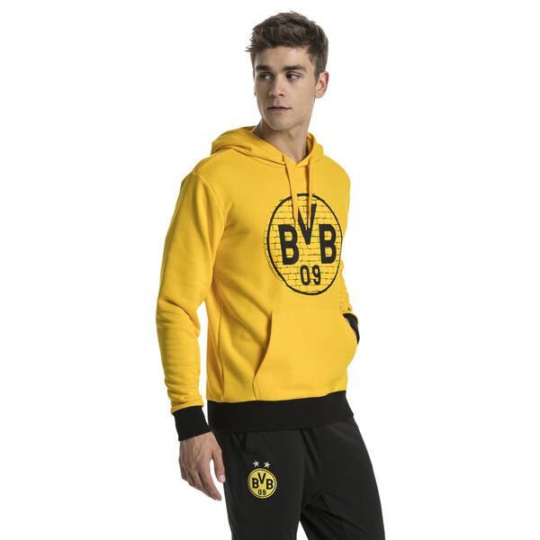 Sweat à capuche BVB Fan, Cyber Yellow-CREST, large