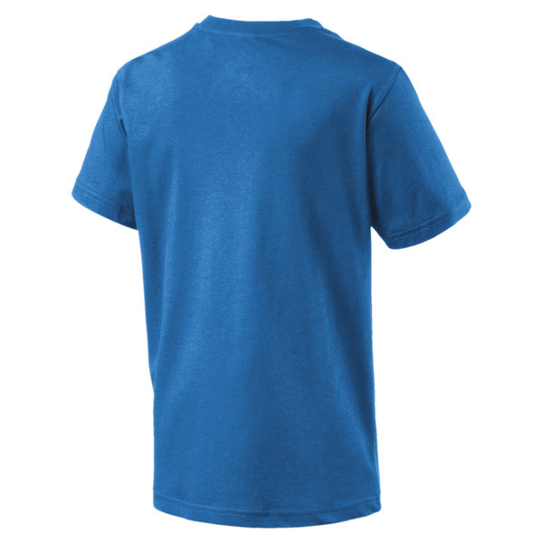 Italia Badge Tee Jr, Team Power Blue, large