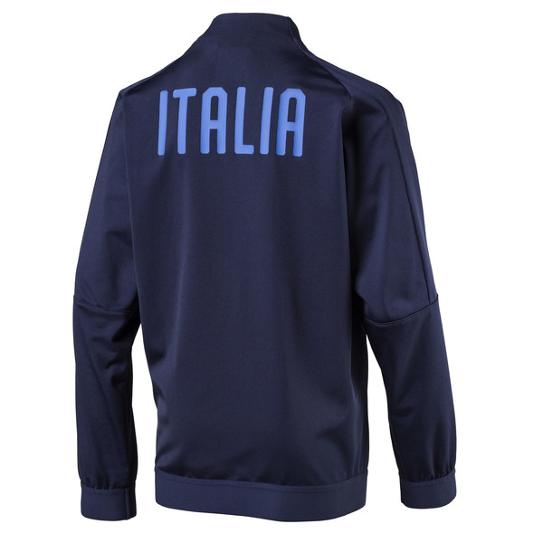 Italia Kids' Stadium Jacket, Peacoat-Team power blue, large