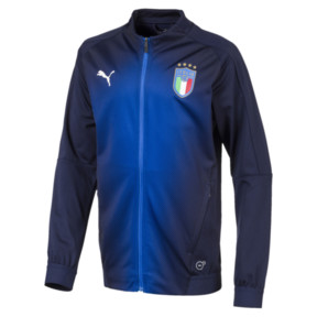 Thumbnail 3 of Italia Kids' Stadium Jacket, Peacoat-Team power blue, medium