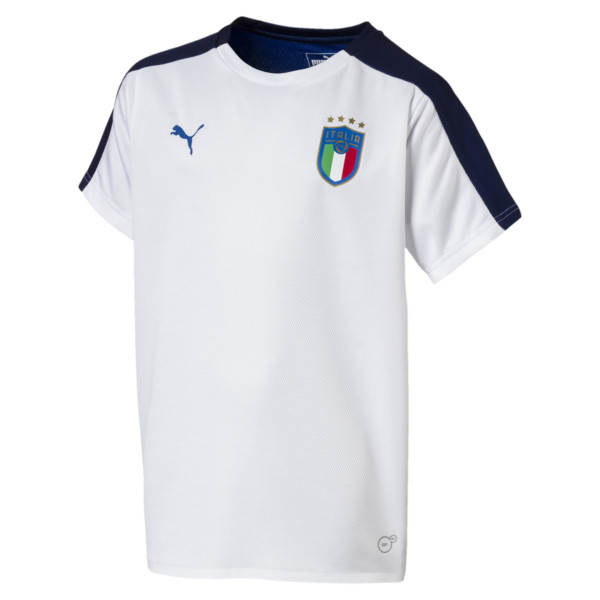 Italia Short Sleeve Stadium Jersey Jr, Puma White, large