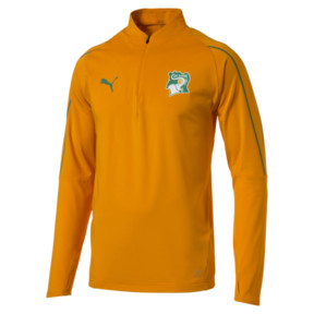Thumbnail 1 of Ivory Coast 1/4 Zip Training Top, Flame Orange, medium