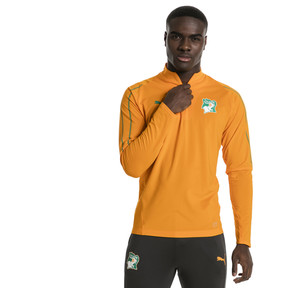 Thumbnail 2 of Ivory Coast 1/4 Zip Training Top, Flame Orange, medium