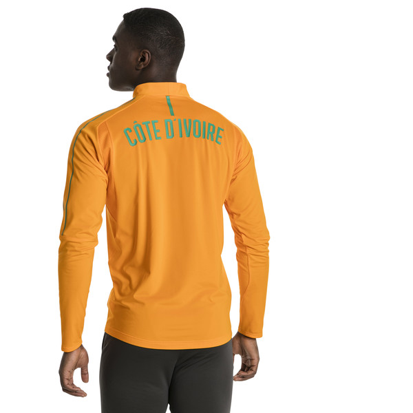 Ivory Coast 1/4 Zip Training Top, Flame Orange, large