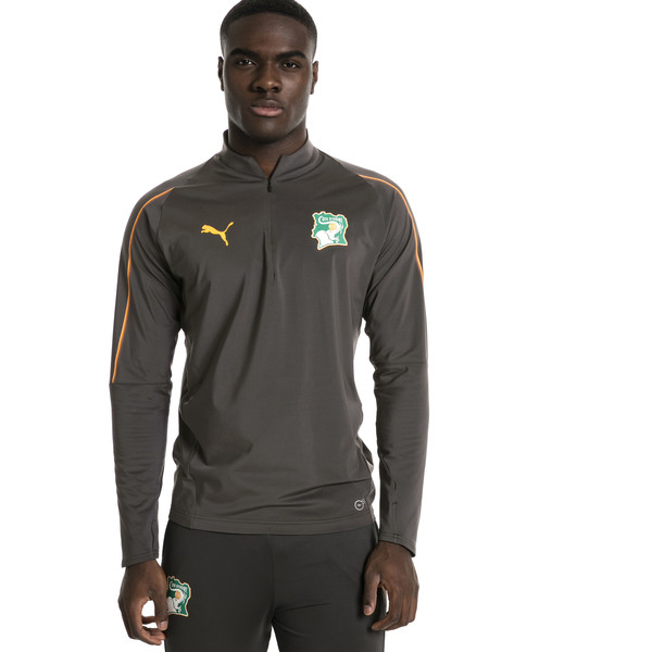 Ivory Coast 1/4 Zip Training Top, Asphalt, large