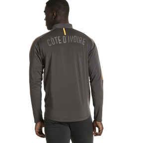 Thumbnail 3 of Ivory Coast 1/4 Zip Training Top, Asphalt, medium