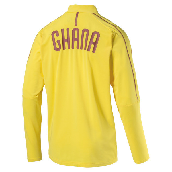 Ghana 1/4 Zip Training Top, Dandelion, large