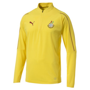 Thumbnail 1 of Ghana 1/4 Zip Training Top, Dandelion, medium