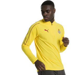 Thumbnail 2 of Ghana 1/4 Zip Training Top, Dandelion, medium