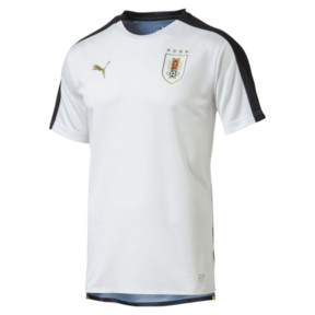 Thumbnail 1 of Uruguay Men's Stadium Jersey, Puma White-Puma Black, medium