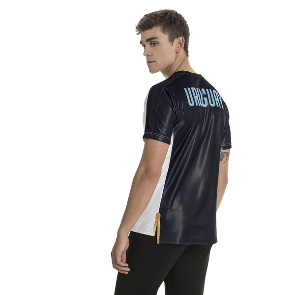 Uruguay Men's Stadium Jersey, Puma White-Puma Black, large
