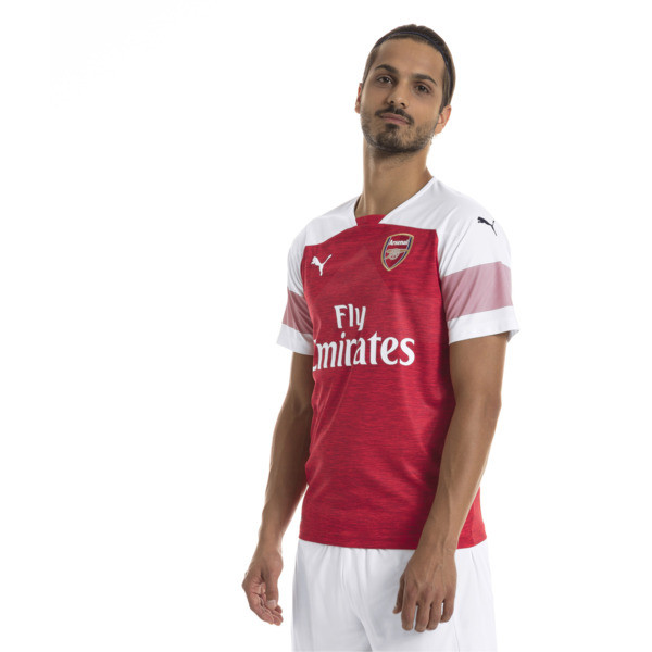 11f35b2dcf3 Arsenal 2018/19 Home Replica Jersey, -Chili Pepper Heather-White, large