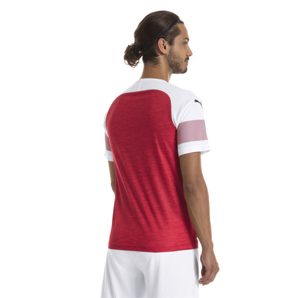 Arsenal FC Men's Home Replica Jersey, -Chili Pepper Heather-White, large