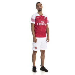 Thumbnail 3 of Arsenal FC Men's Home Replica Jersey, -Chili Pepper Heather-White, medium