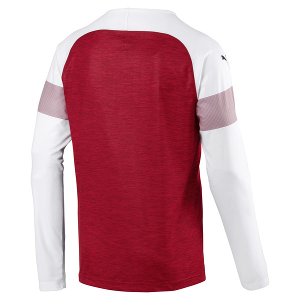 AFC Men's Long Sleeve Home Replica Jersey, Chili-White-Chili Pepper, large