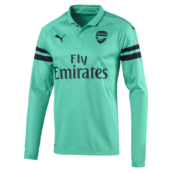 AFC Men's Long Sleeve Third Replica Jersey, Biscay Green-Peacoat, large