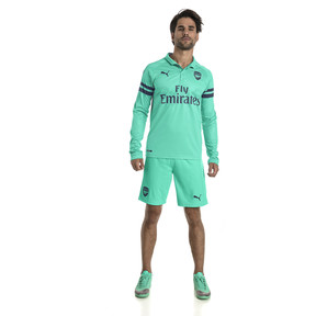 Thumbnail 3 of AFC Men's Long Sleeve Third Replica Jersey, Biscay Green-Peacoat, medium