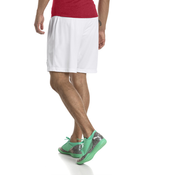 AFC Men's Replica Shorts, Puma White-Chili Pepper, large