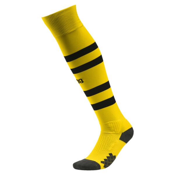 BVB  Gestreifte Socken, Cyber Yellow-Puma Black, large