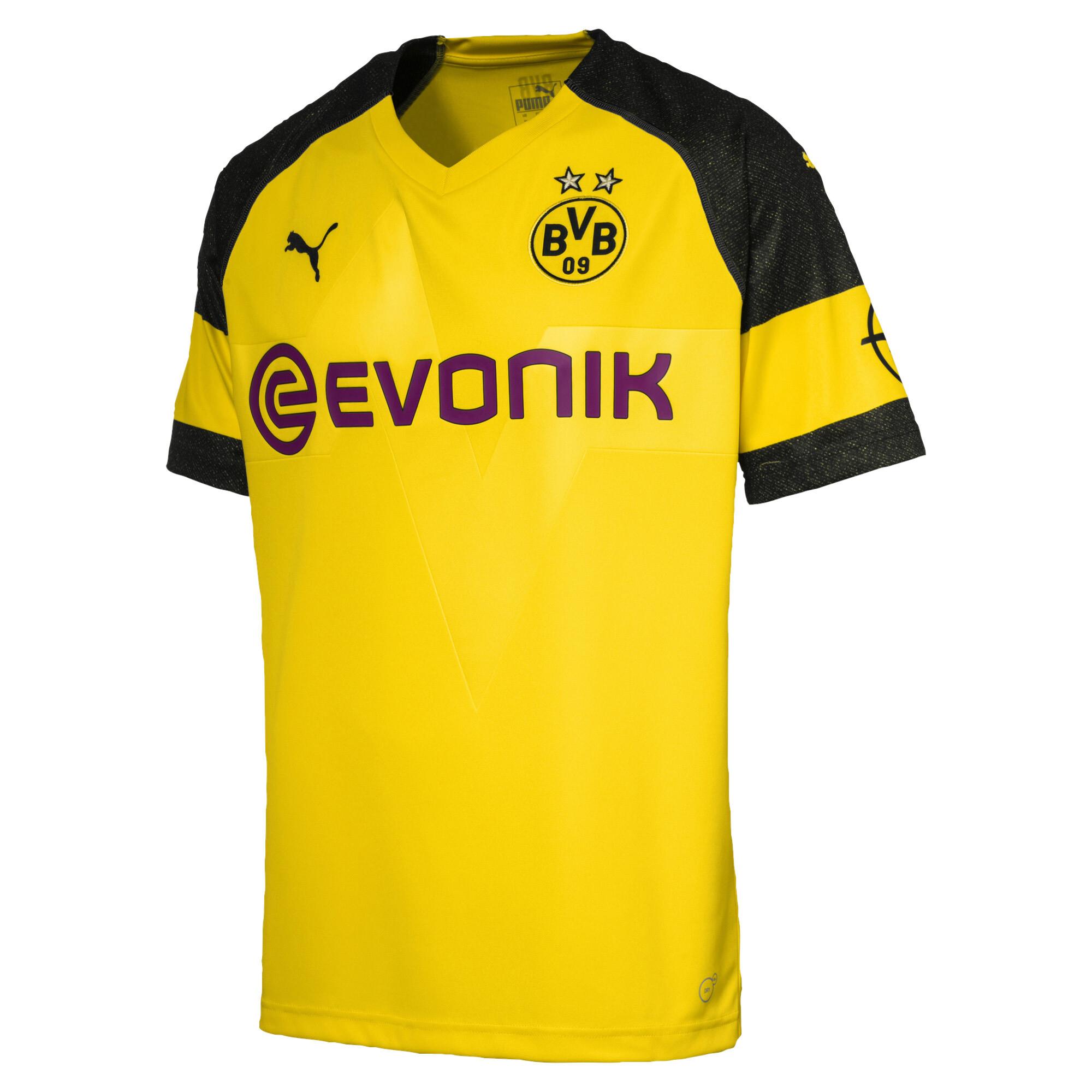 PUMA Mens Standard BVB Cup Shirt Replica Jr with Evonik Logo