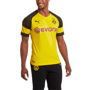 Thumbnail 1 of BVB Men's Home Replica Jersey, Cyber Yellow, medium