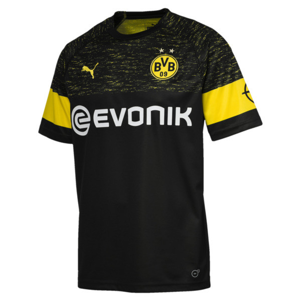 BVB Men's Replica Away Shirt, Puma Black, large