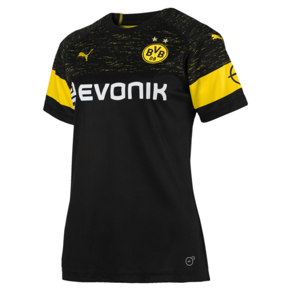 BVB Women's Away Replica Jersey, Puma Black, large