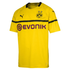 Thumbnail 4 of BVB Men's Cup Replica Jersey, Cyber Yellow, medium