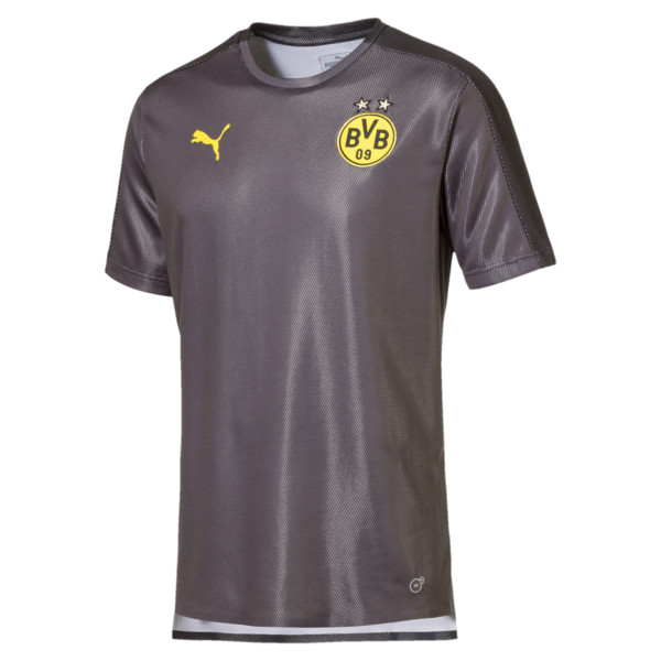 BVB Men's Stadium Jersey, Asphalt-Puma Black, large