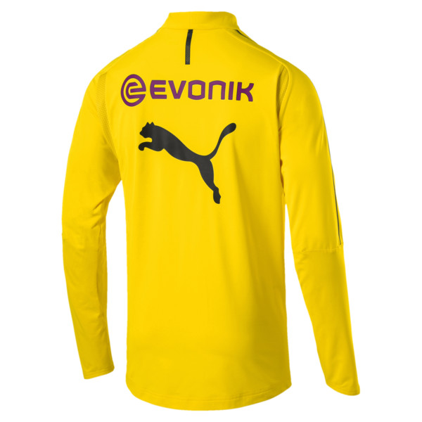 BVB Men's 1/4 Zip Training Top, Cyber Yellow, large