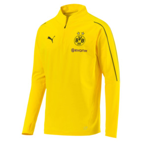 Thumbnail 4 of BVB Men's 1/4 Zip Training Top, Cyber Yellow, medium