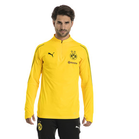 Thumbnail 1 of BVB Men's 1/4 Zip Training Top, Cyber Yellow, medium