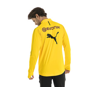 Thumbnail 2 of BVB Men's 1/4 Zip Training Top, Cyber Yellow, medium